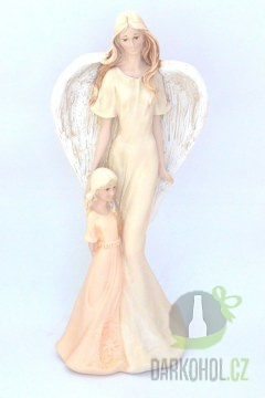 Hlavní kategorie - Anděl s holčičkou oranžové šaty