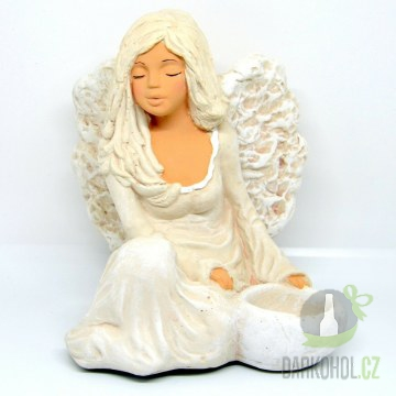 Hlavní kategorie - Anděl sádrový Floe se svíčkou u nohy