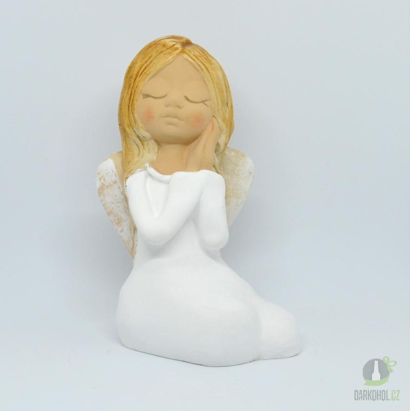 Hlavní kategorie - Anděl sedící dívenka bílá