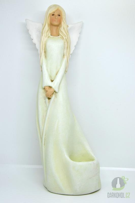Hlavní kategorie - Anděl zelený,svíčka 0043 34cm
