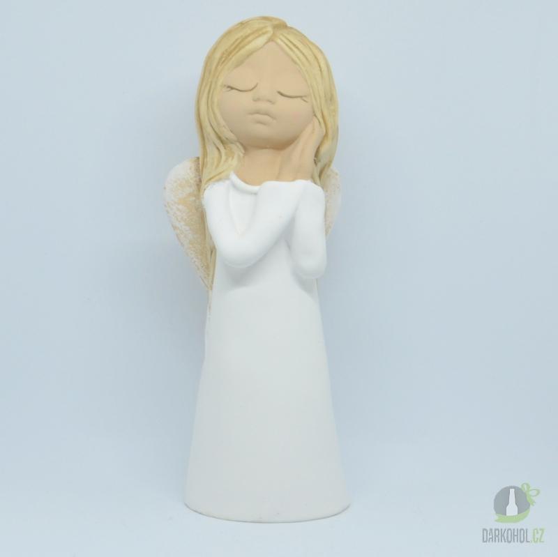 Hlavní kategorie - Anděl žena Giga -bílý,29cm,polystone
