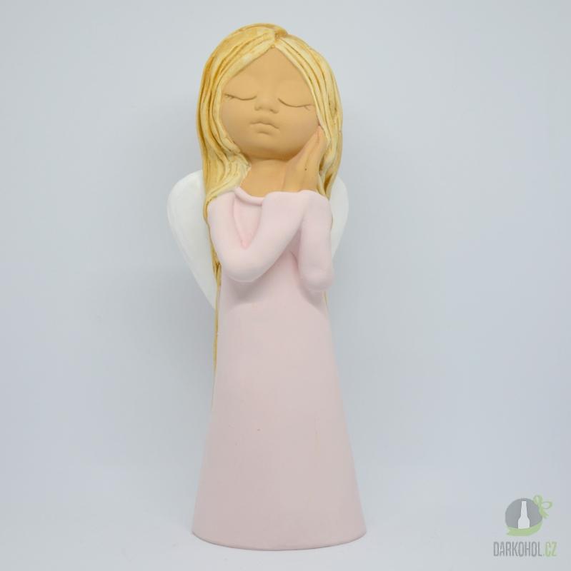 Hlavní kategorie - Anděl žena Giga -růžový,29cm,polystone