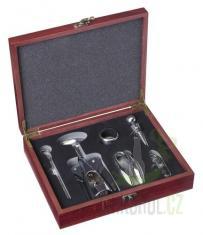 Hlavní kategorie - Dárkový box na víno hnědý 6 pomůcek