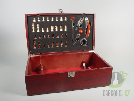 Hlavní kategorie - Box na 2 láhve vína šachy