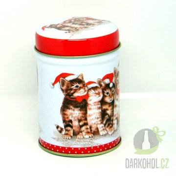 Hlavní kategorie - Dóza kulatá vánoční 100g kočky-poslední  kus!
