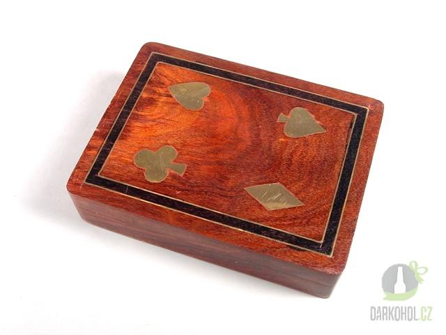 Hlavní kategorie - Canasta box dřevo intarzie 15*12*4