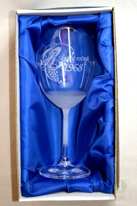 Hlavní kategorie - Sklenice pískovaná Gala víno Skvělý ročník 1968 0,3l