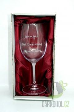 Hlavní kategorie - Pískovaná sklenice na víno  Jsem máma