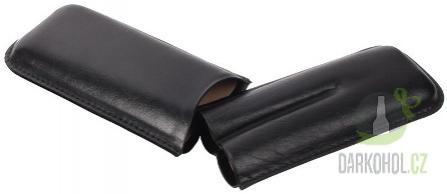 Hlavní kategorie - Doutníkové pouzdro na dva doutníky černé 16cm