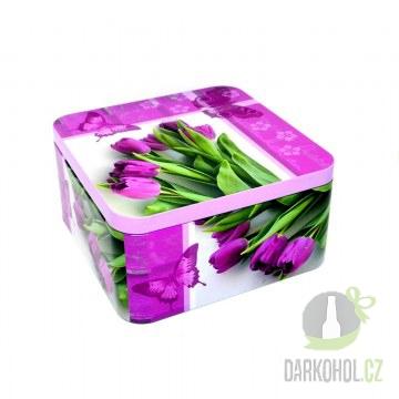 Hlavní kategorie - Dóza čtverec 150*150*75 tulipány-poslední kus!