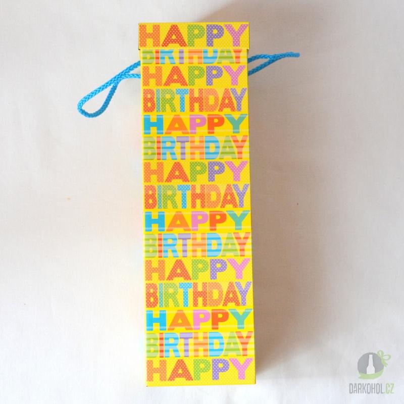 Hlavní kategorie - Dóza plechová na alkohol-Happy Birthday