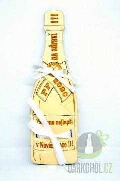 Hlavní kategorie - Dřevěná lahev Nový rok
