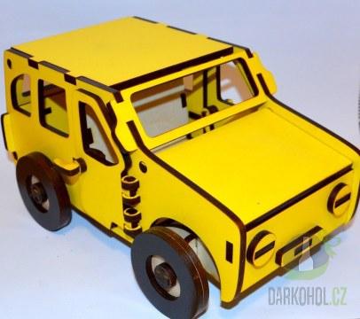 Hlavní kategorie - Dřevěné auto žluté Nejedlý