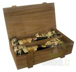 Hlavní kategorie - Dřevěný box na 2 láhve-hnědý