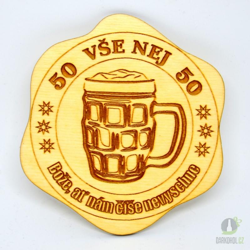 Hlavní kategorie - Dřevěný podtácek 50 pivo