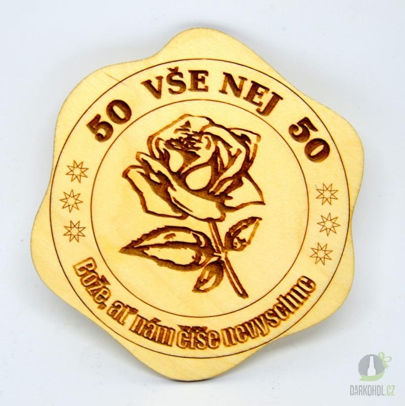 Hlavní kategorie - Dřevěný podtácek 50 růže