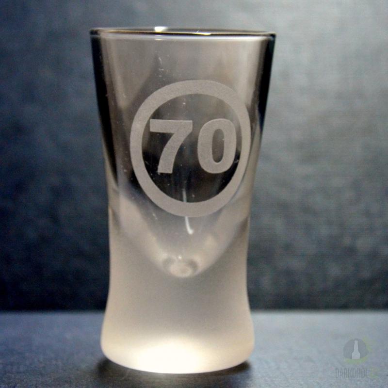 Hlavní kategorie - Panák pískovaný kónický 70