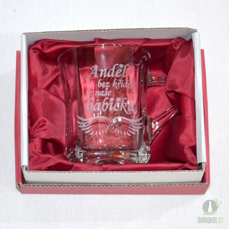 Hlavní kategorie - Hrnek pískovaný menší Geo Anděl babička