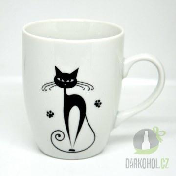 Hlavní kategorie - Hrnek bílý-Černá kočka