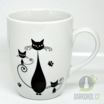 Hlavní kategorie - Hrnek bílý-Tři černé kočky