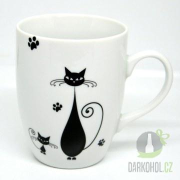 Hlavní kategorie - Hrnek bílý-Dvě černé kočky