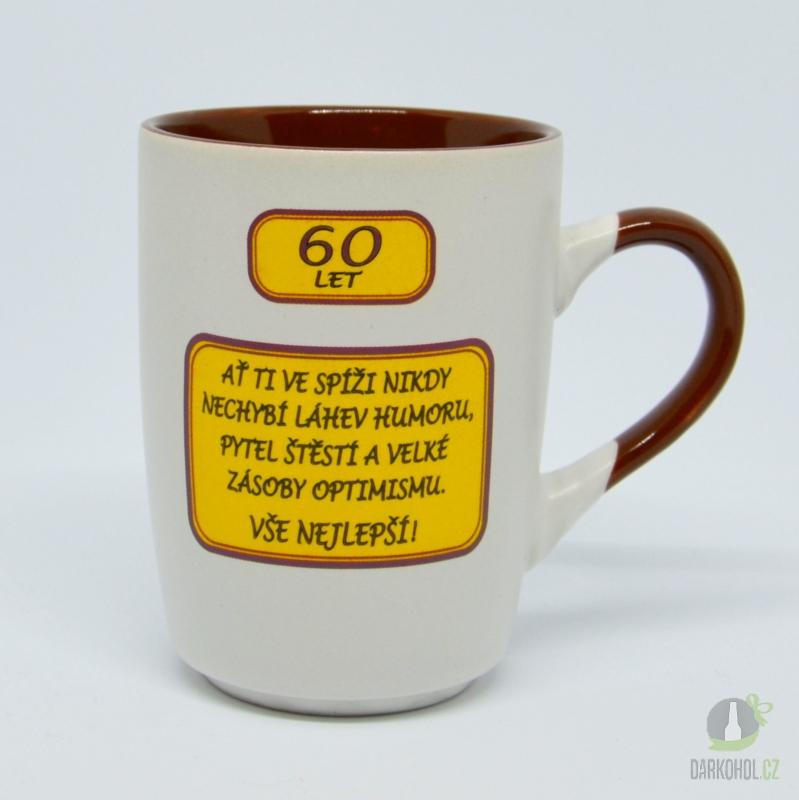 Hlavní kategorie - Hrnek-60let-Ať ti ve spíži nikdy nechybí láhev humoru..