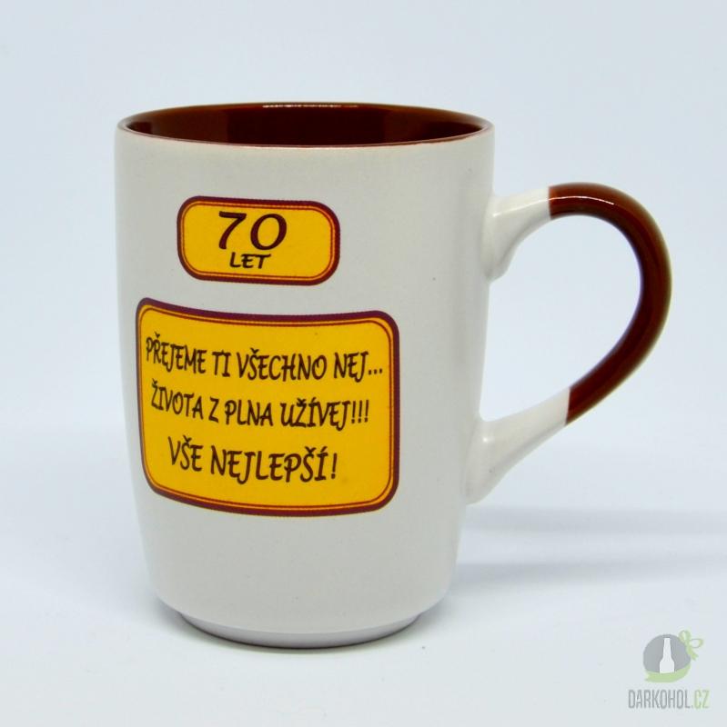 Hlavní kategorie - Hrnek-70let-Přejeme ti všechno nej..život z plna užívej!!!