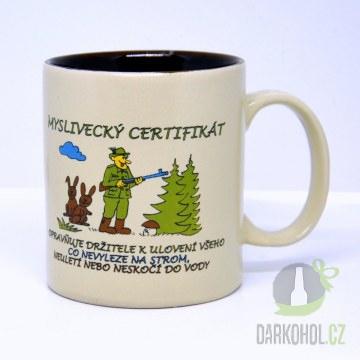 Hlavní kategorie - Hrnek Maxi myslivecký certifikát