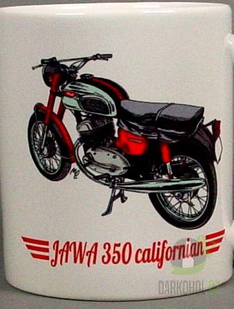 Hlavní kategorie - Hrnek retro Jawa 350 Califorman
