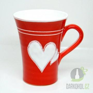 Hlavní kategorie - Hrnek velký červený dvě srdce