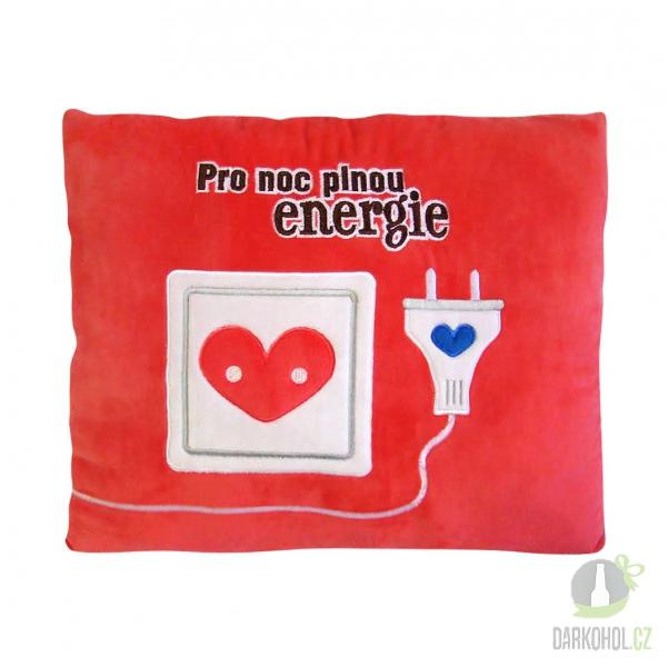 Hlavní kategorie - Humorný polštář Pro noc plnou energie-poslední kus!
