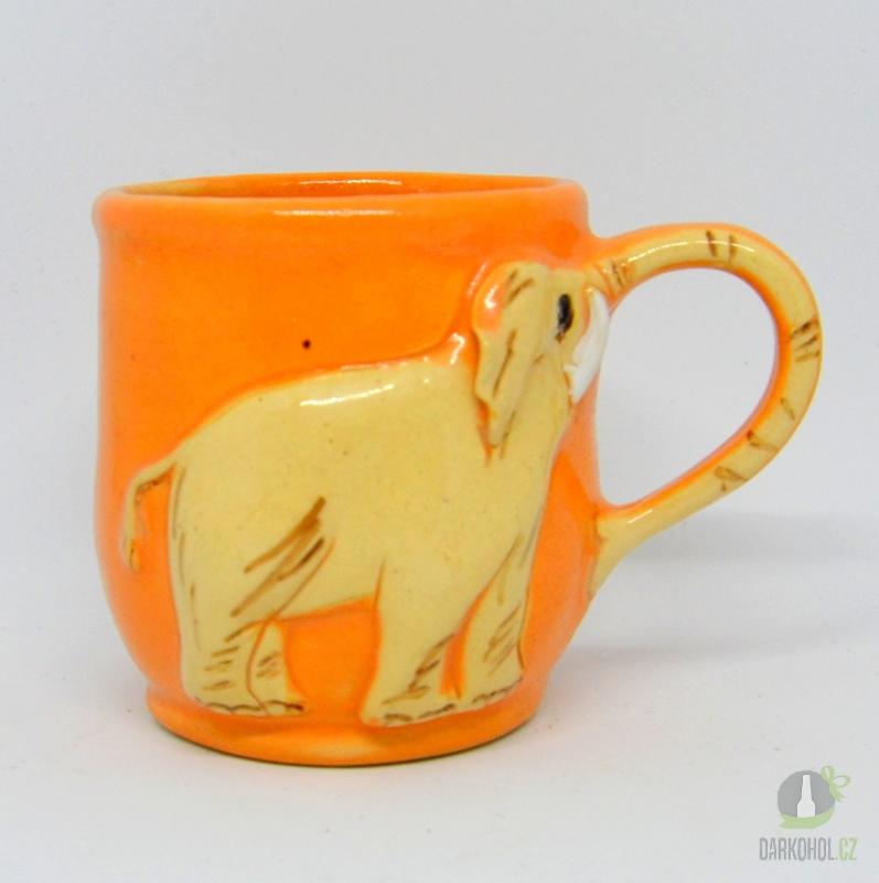 Hlavní kategorie - Keramický hrnek slon oranžový