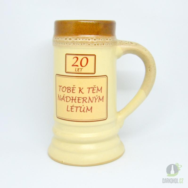 Hlavní kategorie - Korbel keramický-20- Tobě k těm nádherným létům