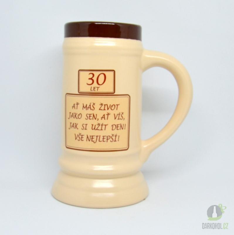Hlavní kategorie - Korbel keramický-30- ať máš život jako sen