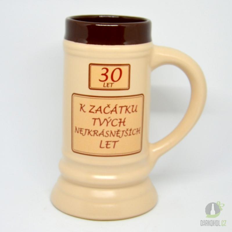 Hlavní kategorie - Korbel keramický 30- k začátku tvých nejkrásnějších let