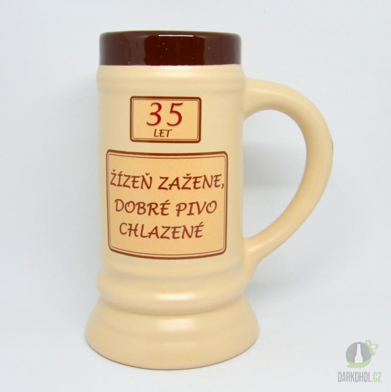 Hlavní kategorie - Korbel keramický-35- žízeň zažene dobré pivo