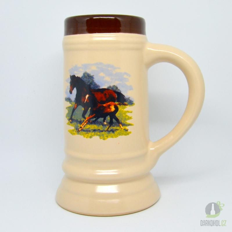 Hlavní kategorie - Korbel keramický-Dva koně