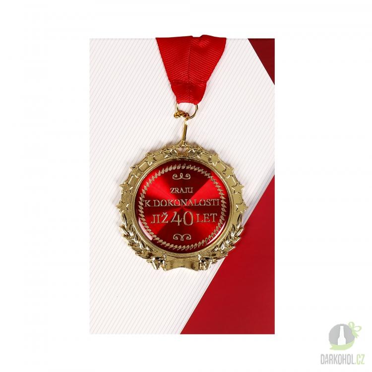 Hlavní kategorie - Medaile 40let červená