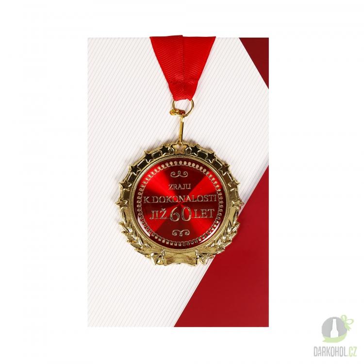 Hlavní kategorie - Medaile 60let červená