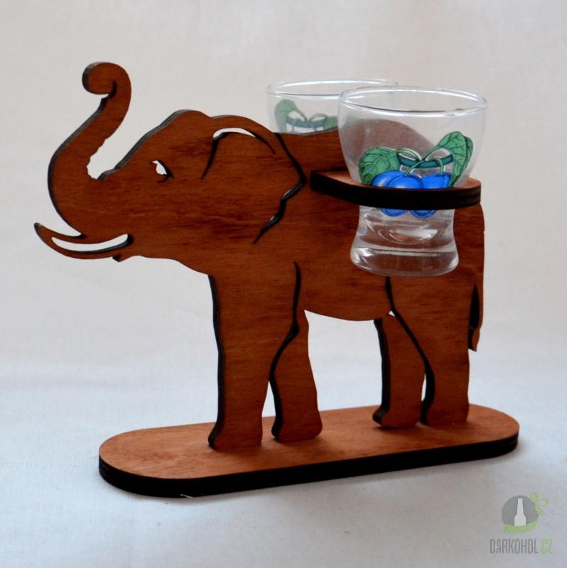 Hlavní kategorie - Stojánek slona se dvěma panáky švestka