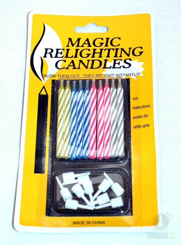 Hlavní kategorie - Nesfouknutelné svíčky 10 ks