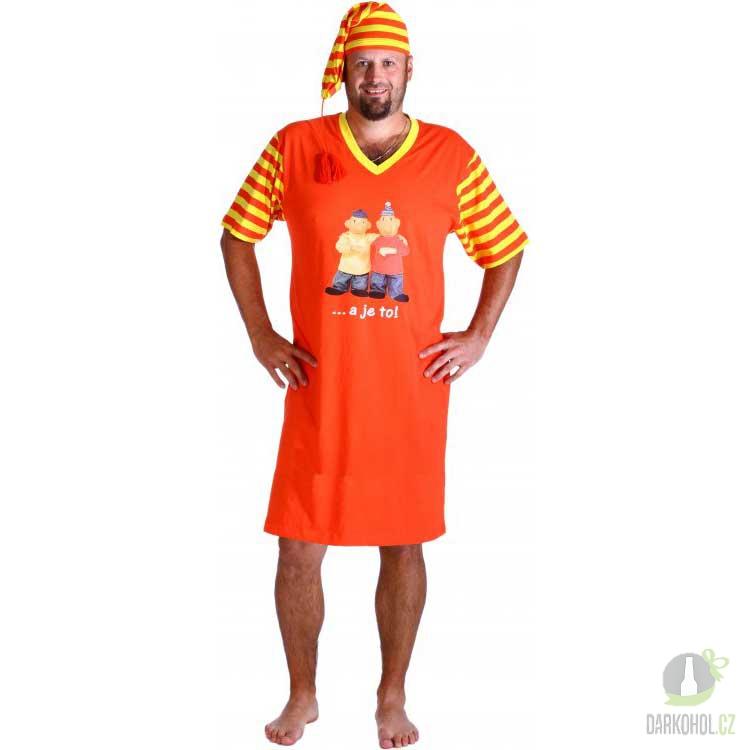 Hlavní kategorie - Noční košile oranžová Pat a Mat