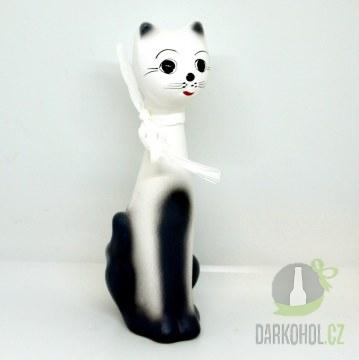 Hlavní kategorie - Pokladnička kočka bílá 22cm