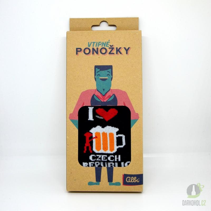 Hlavní kategorie - Ponožky s textem I lowe pivo Czech republic