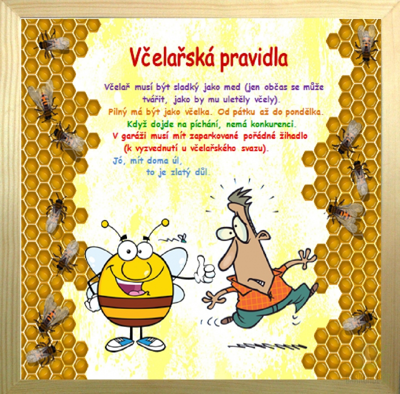 Hlavní kategorie - Rámeček velký-Včelařská pravidla