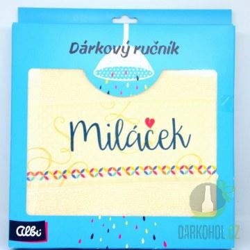 Hlavní kategorie - Ručník s textem Miláček
