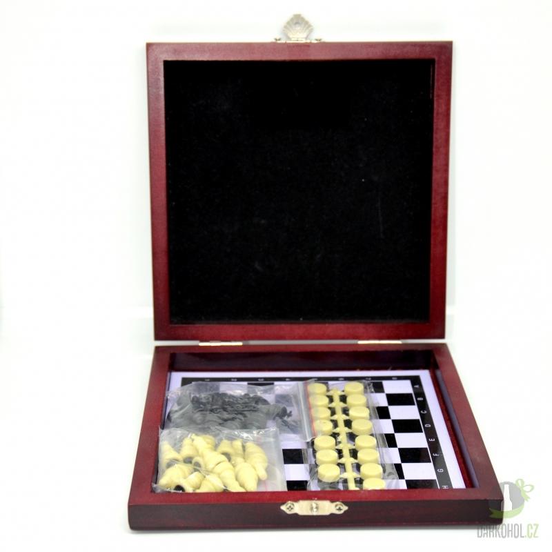 Hlavní kategorie - Šachy+dáma dřevěný box