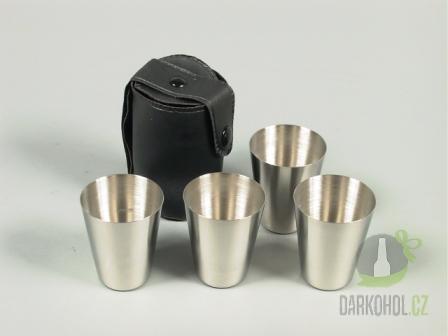 Hlavní kategorie - Sada 4ks pohárku 30ml v černém pouzdře
