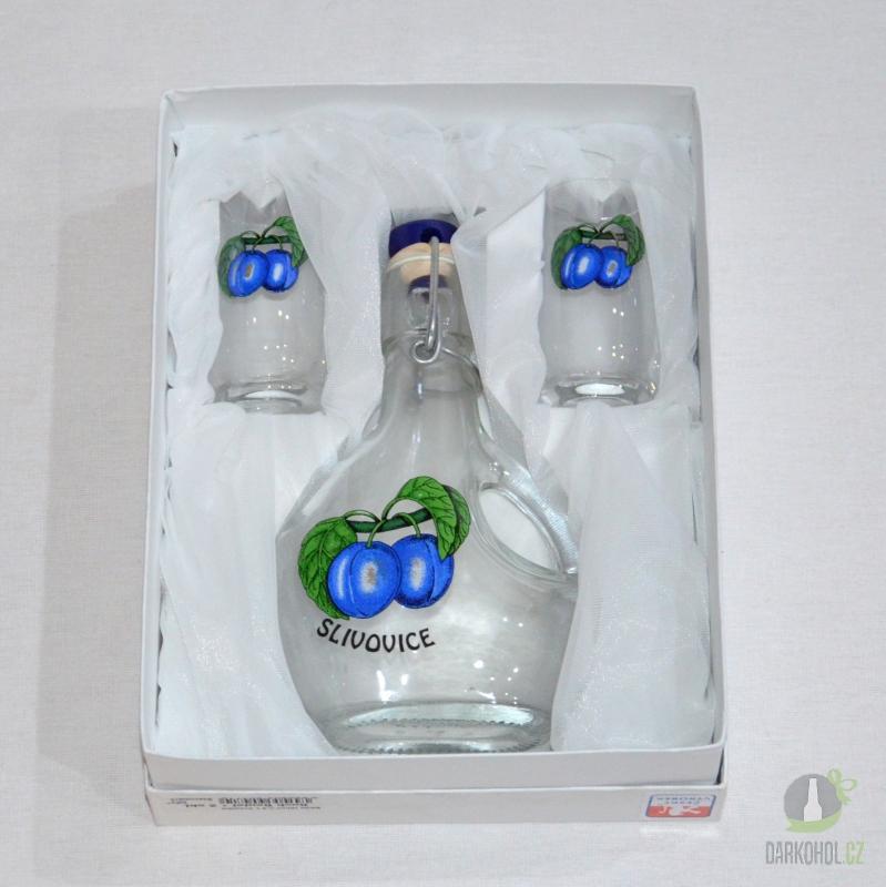 Hlavní kategorie - Sada butylka se dvěma panáky 0,2 l švestky-poslední kus!