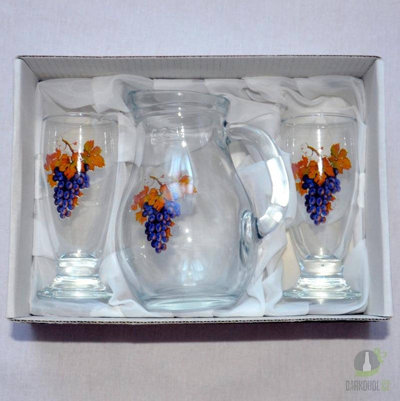 Hlavní kategorie - Mini Sada džbán a sklenice na víno modrá - poslední kus !
